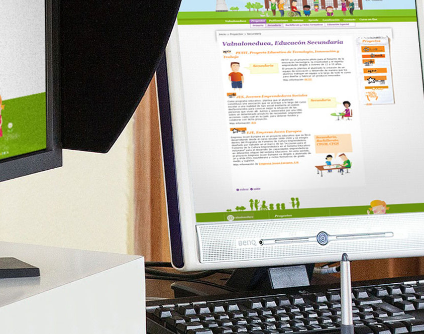 Portal web Valnaloneduca