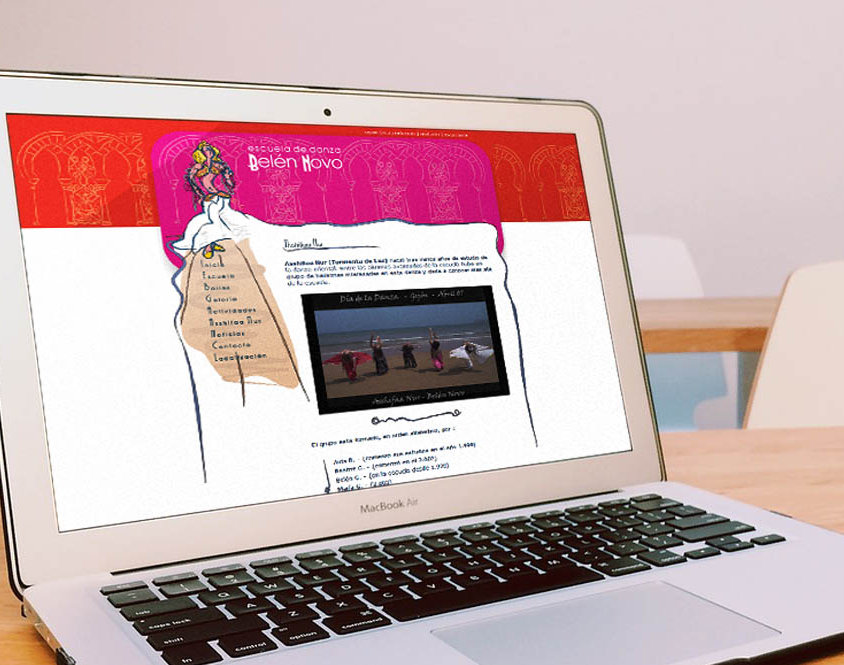 Página web Escuela de Danza Belén Novo