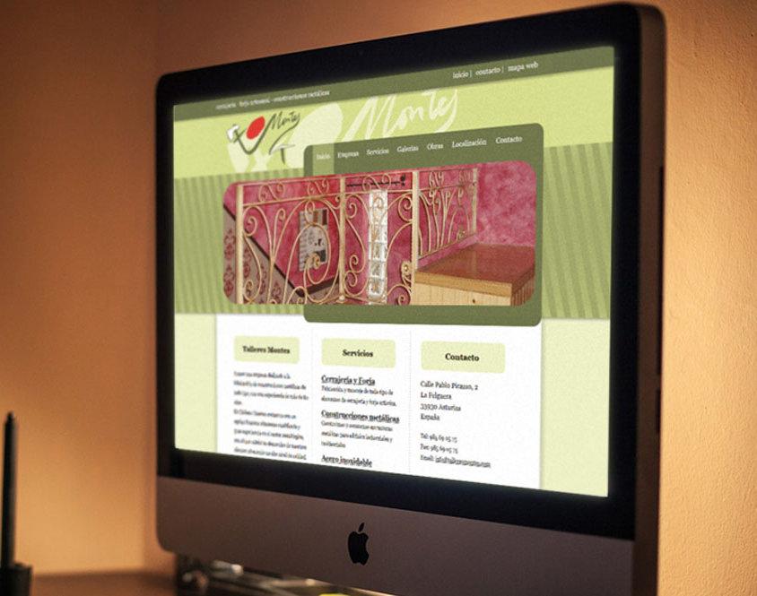 Diseño y desarrollo página web Talleres Montes