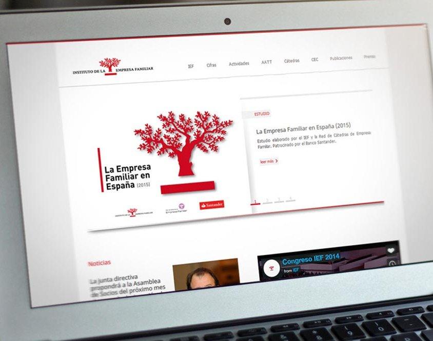 Desarrollado con Laravel para el Instituto de Empresa Familiar