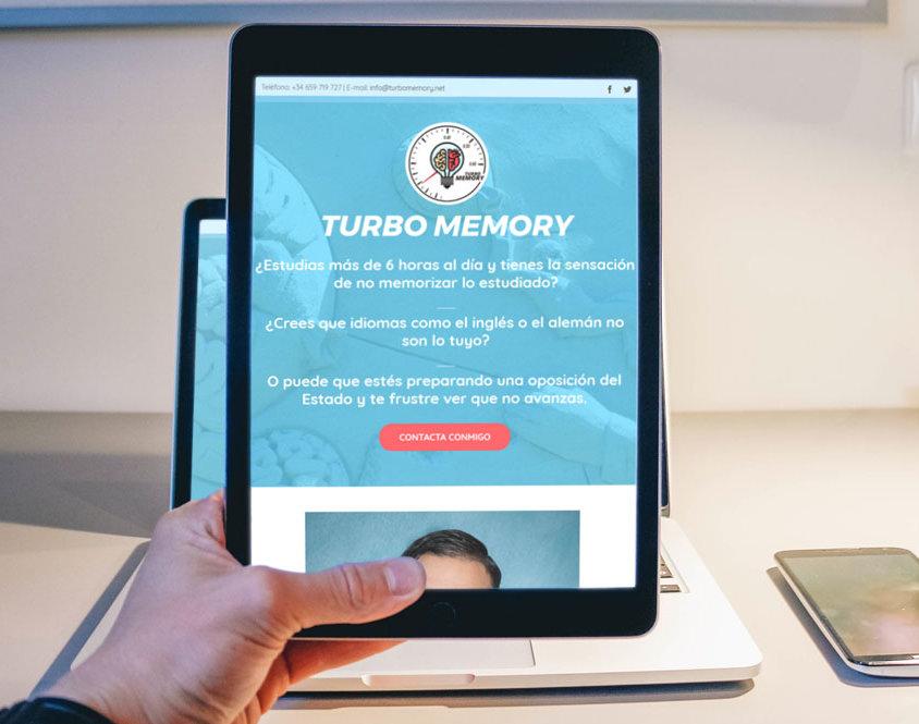 Landing Page para Turbomemory