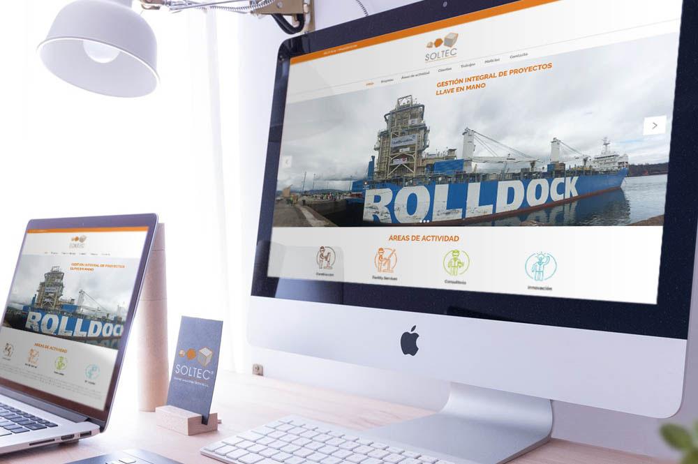 Diseño web profesional para Soltec, Servicios de Ingeniería
