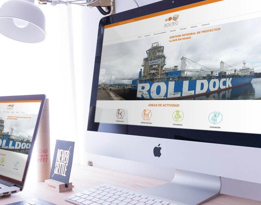 Web para Soltec, Servicios de Ingeniería