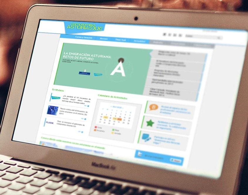 Desarrollo del portal web Compromiso Asturias XXI
