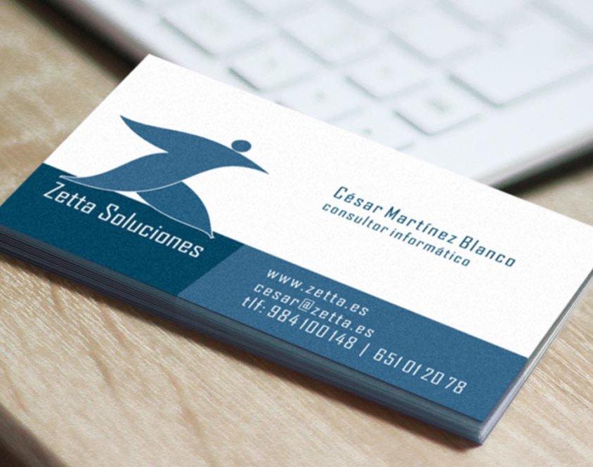 Diseño de imagen corporativa Zetta Soluciones