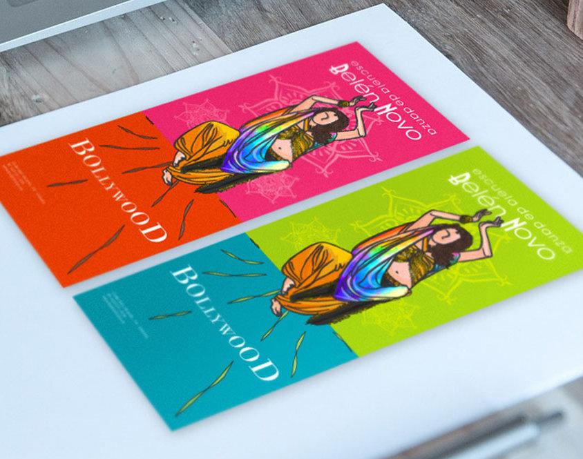 Diseño folletos Bollywood Belén Novo