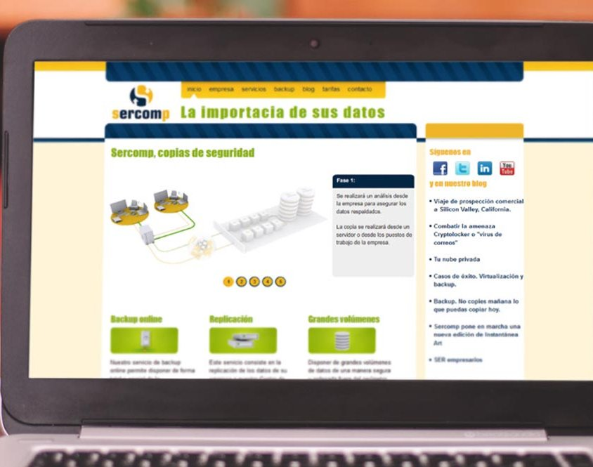 Página web Sercomp