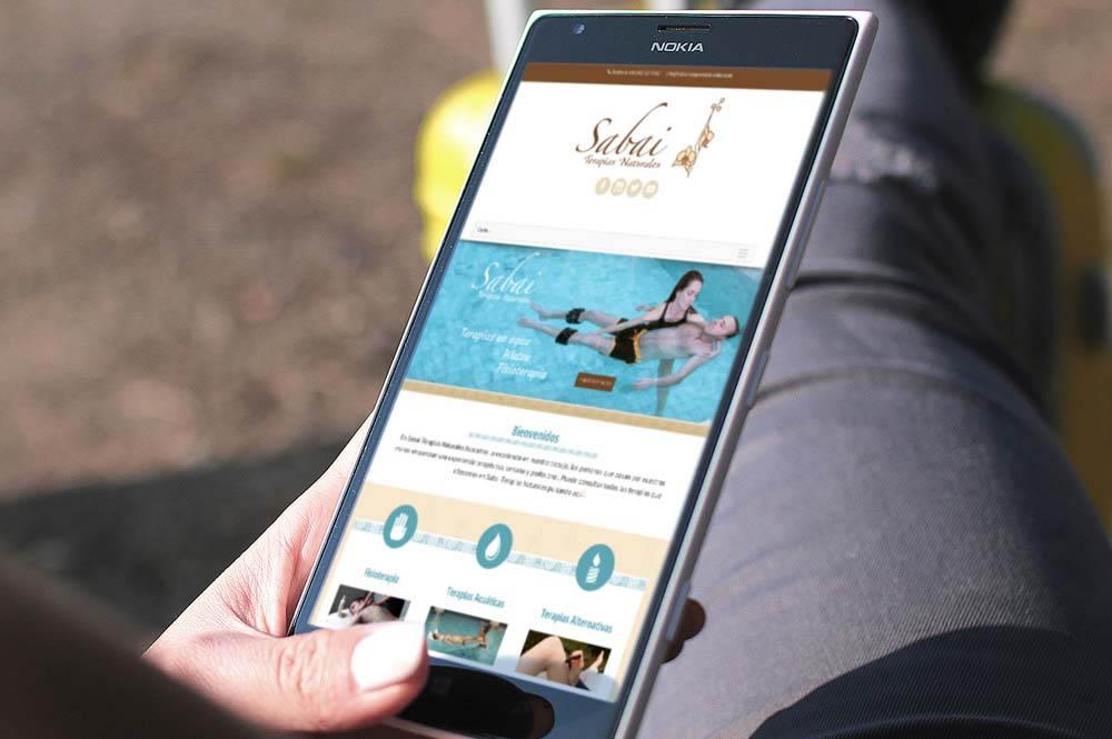 Web responsive para Sabai Terapias Naturales