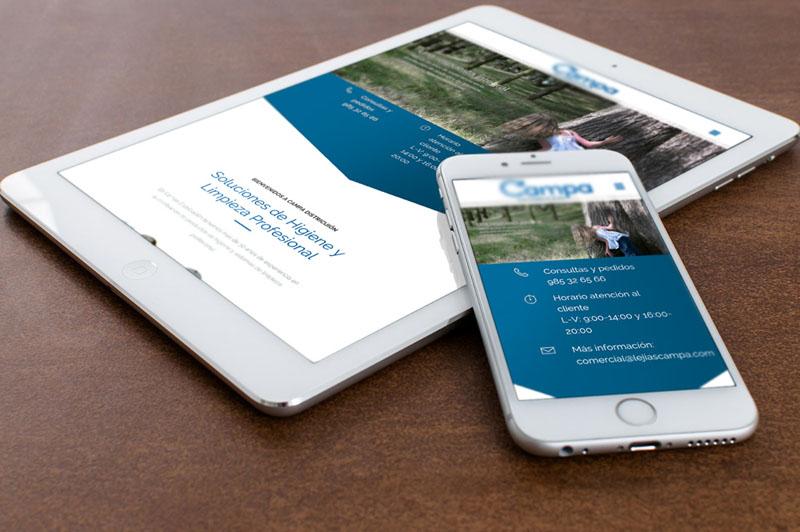 Web responsive en tablet y móvil