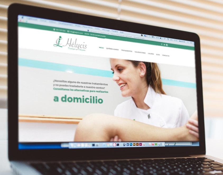 Web de fisioterapia y osteopatía Helycis