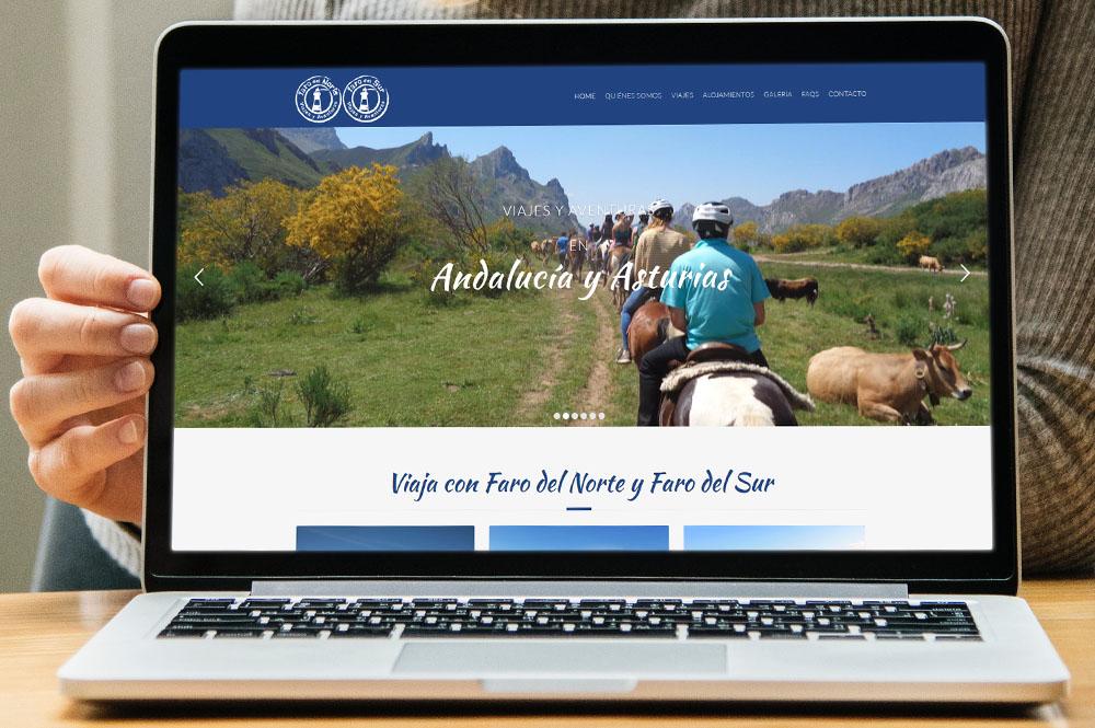 Página web para las empresas de aventura Faro del Norte y Faro del Sur
