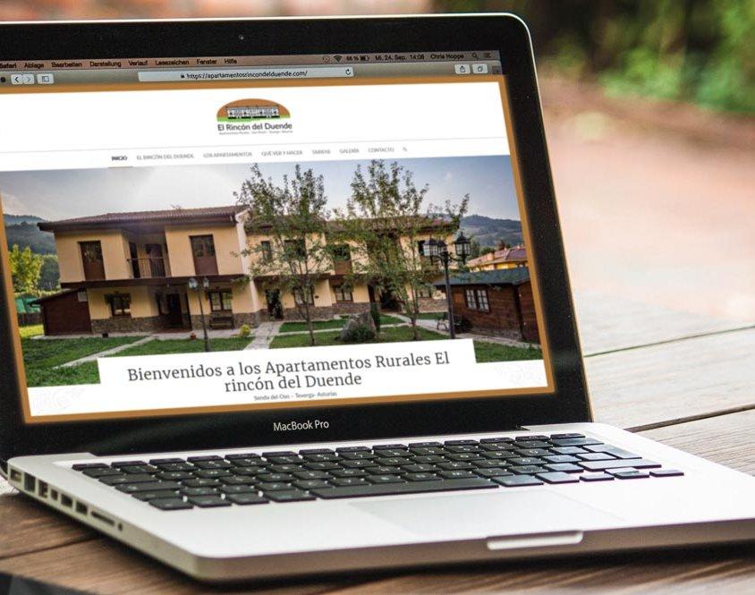 Nueva web para Apartamentos El rincón del duende