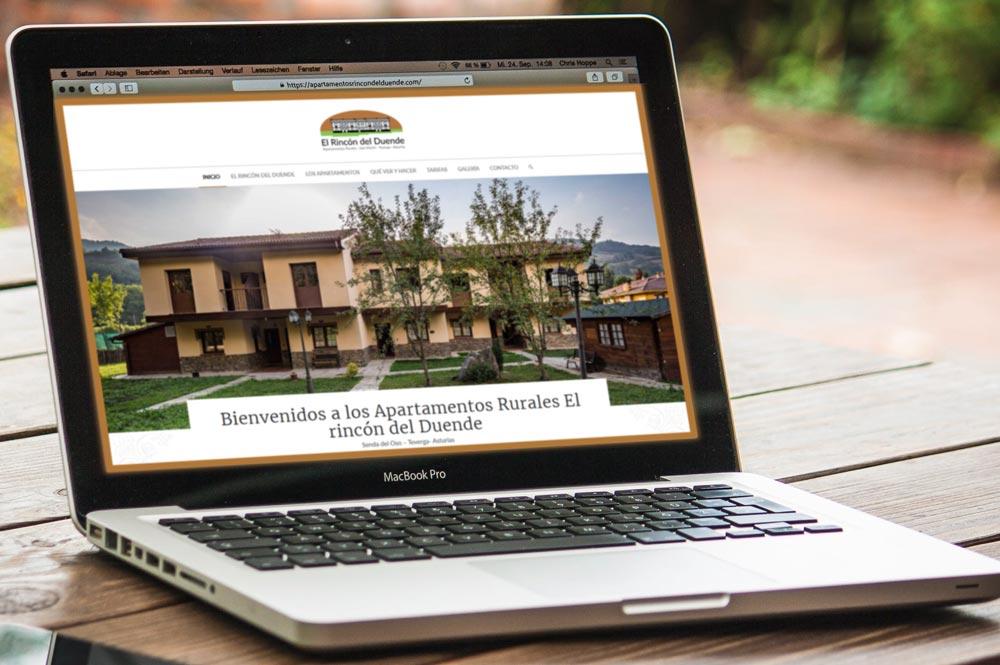 Nueva web para los apartamentos El Rincón del duende